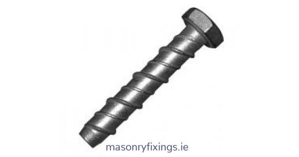 M16 X 100 Thunderbolts Anchor Bolt Self Tapping Masonry Fixings Zinc Plated.